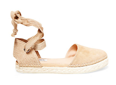 STEVE MADDEN REMMYY LACE UP ESPADRILLE