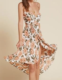 THE REFORMATION MATTIE FLORAL DRESS