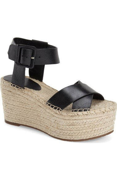 MARC FISHER 'RANDALL' PLATFORM WEDGE SANDALS