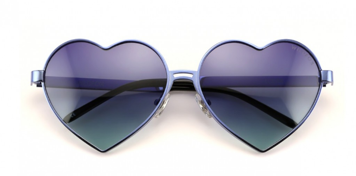 WILDFOX 'LOLITA' HEART SHAPED SUNGLASSES