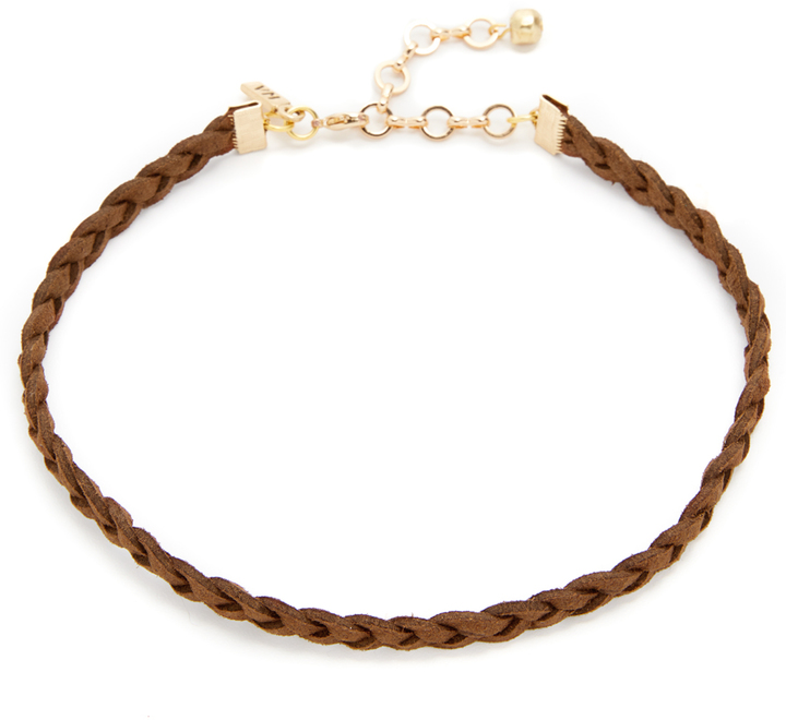VANESSA MOONEY BRAIDED SUEDE CHOKER