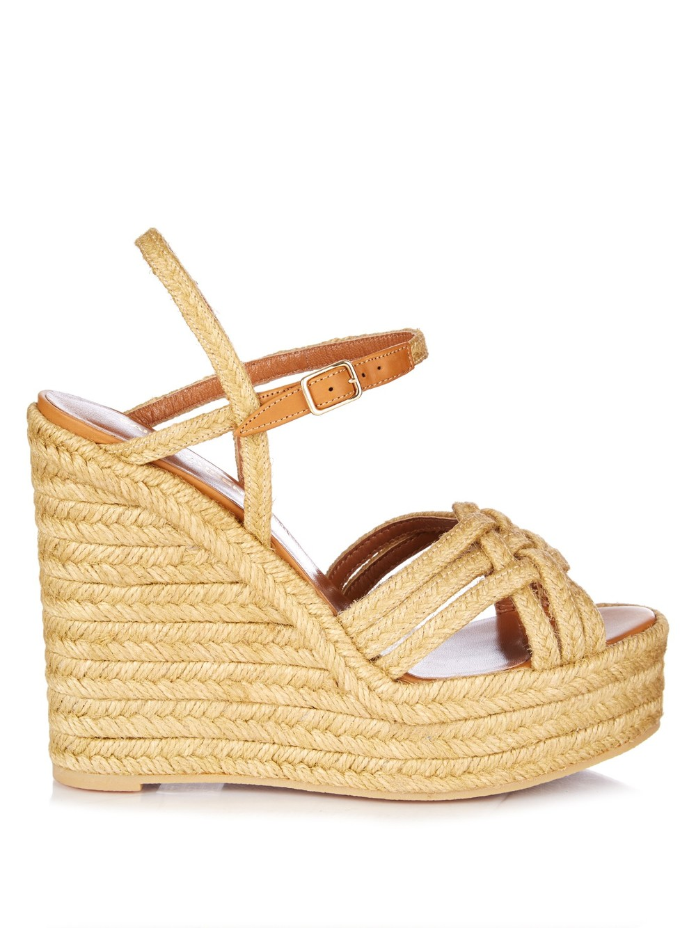 SAINT LAURENT CONGNAC WEDGE SANDALS