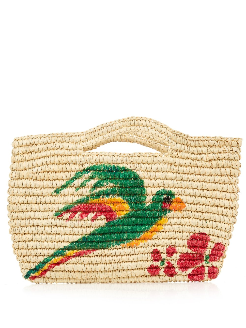 SENSI STUDIO 'MACAW' MINI STRAW BAG