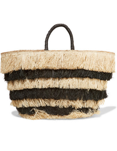 KAYU PINATA FRINGED STRAW BAG