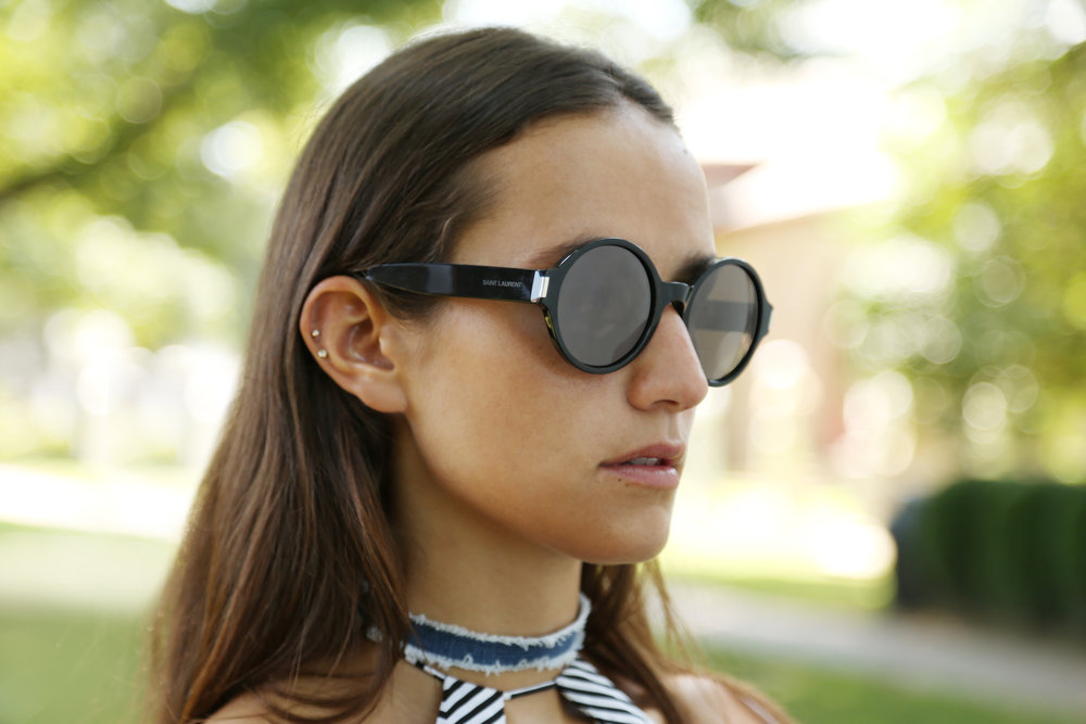 SOPHIE BICKLEY SAINT LAURENT SUNGLASSES DETAILS