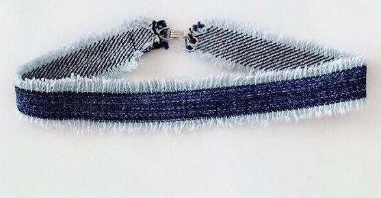 CHOKED BY A THREAD EVERYDAY DENIM CHOKER
