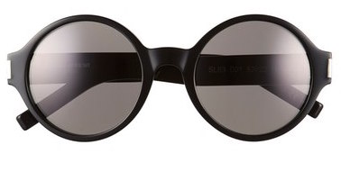 SAINT LAURENT ROUND BLACK SUNGLASSES