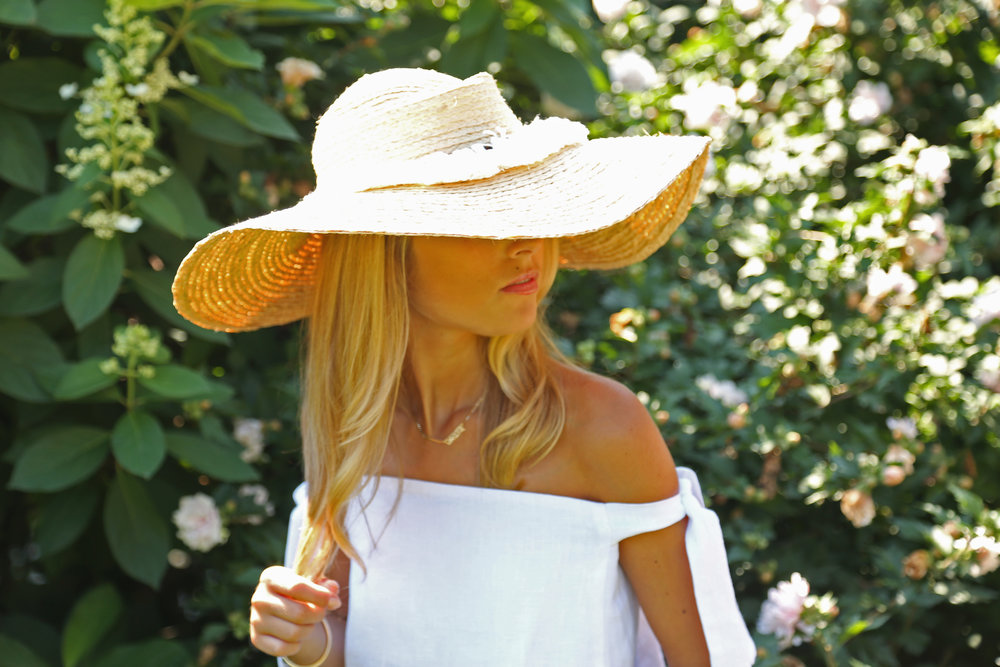CHARLOTTE BICKLEY YIN 2MY YANG SISTER BLOGGERS STRAW HATS