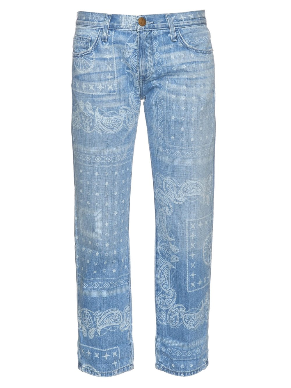 CURRENT/ELLIOT 'THE BOYFRIEND' BANDANA PRINT JEAN