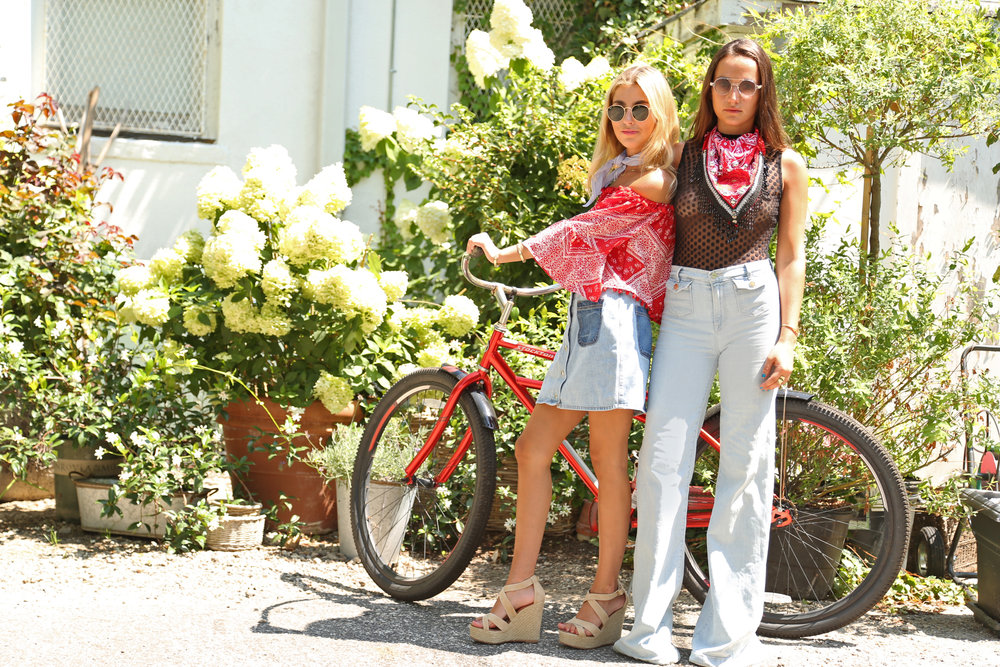 SOPHIE AND CHARLOTTE BICKLEY YIN 2MY YANG BANDANA PRINTS FASHION BLOGGER SISTERS