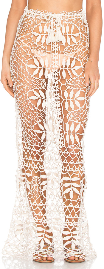 FOR LOVE & LEMONS ST. TROPEZ CROCHET SKIRT