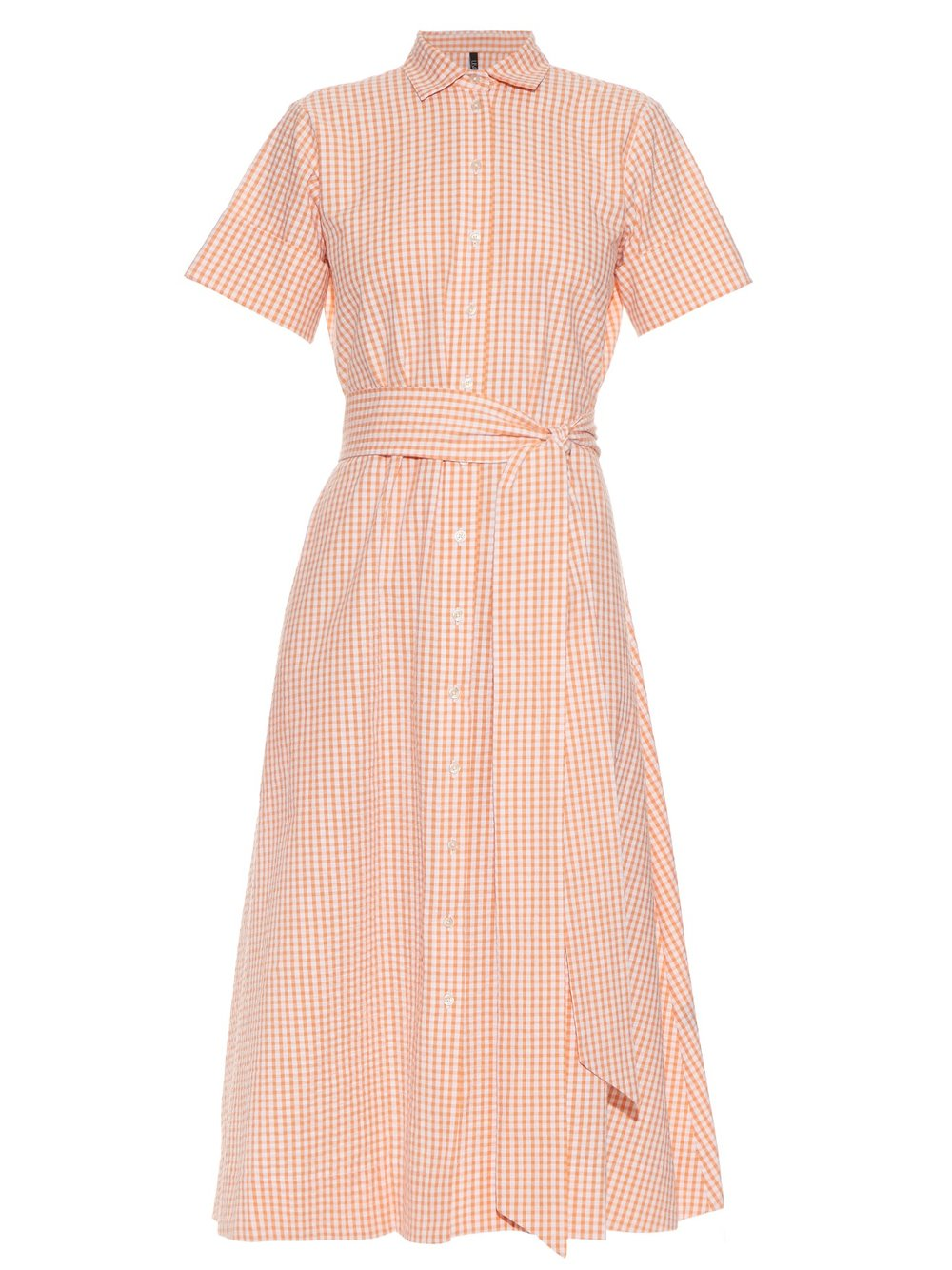 LISA MARIE FERNANDEZ CHECKED COTTON SHIRTDRESS