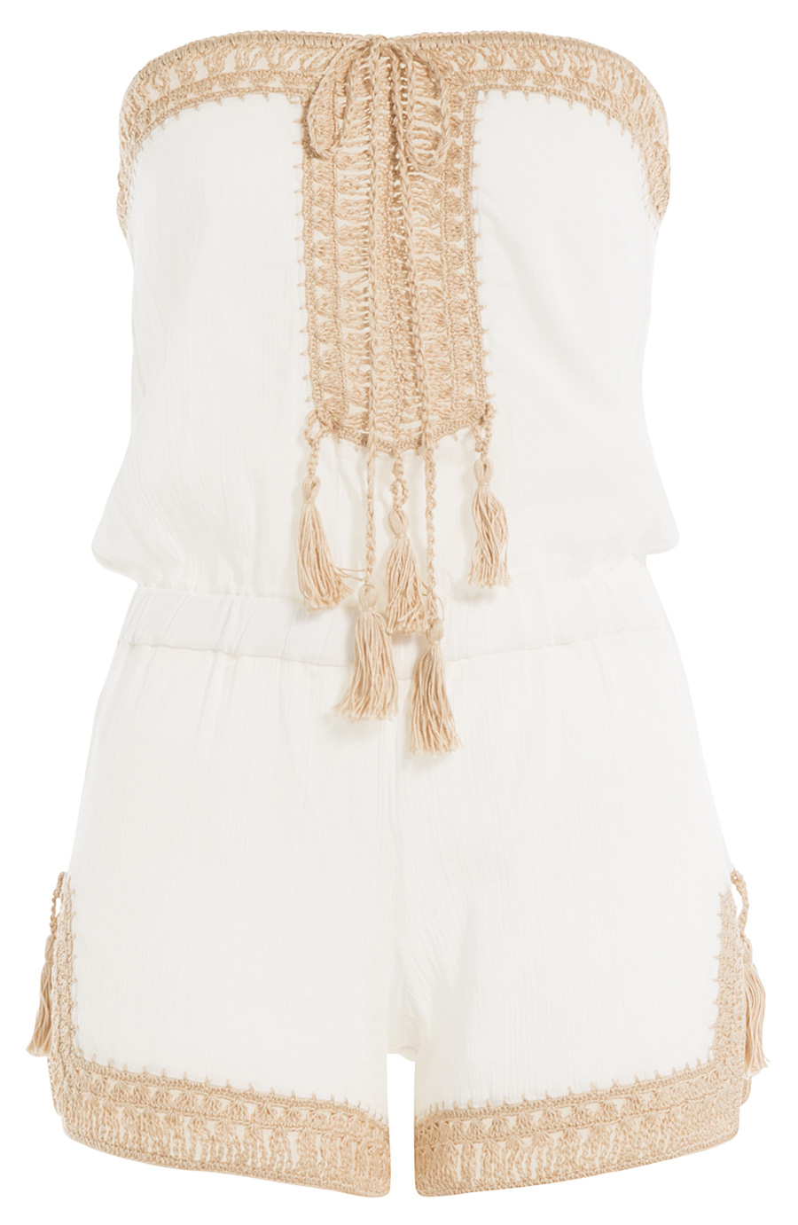 ANNA KOSTUROVA 'HELENA' COTTON PLAYSUIT
