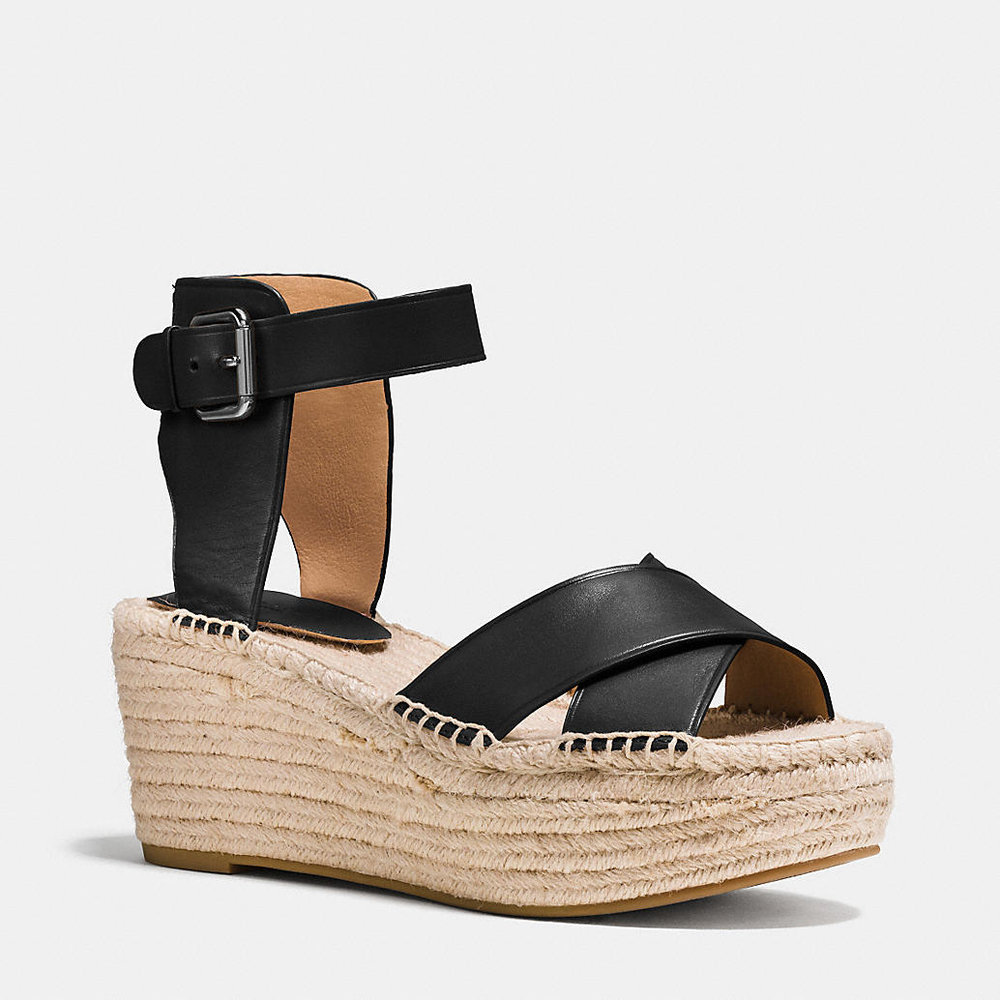 COACH 'PRIMROSE' PLATFORM WEDGE SANDALS