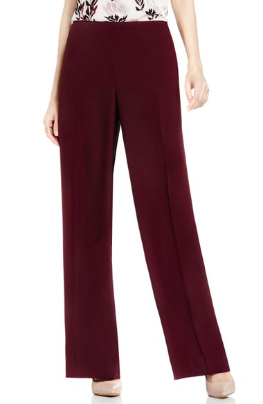 VINCE CAMUTO SIDE ZIP WIDE LEG PANTS