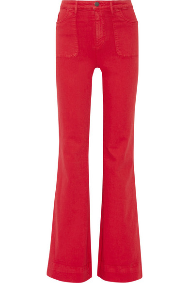 ALICE + OLIVIA 'JUNO' HIGH RISE WIDE LEG JEANS