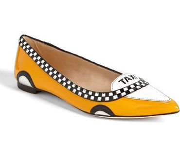 KATE SPADE TAXI POINTED TOE FLATS