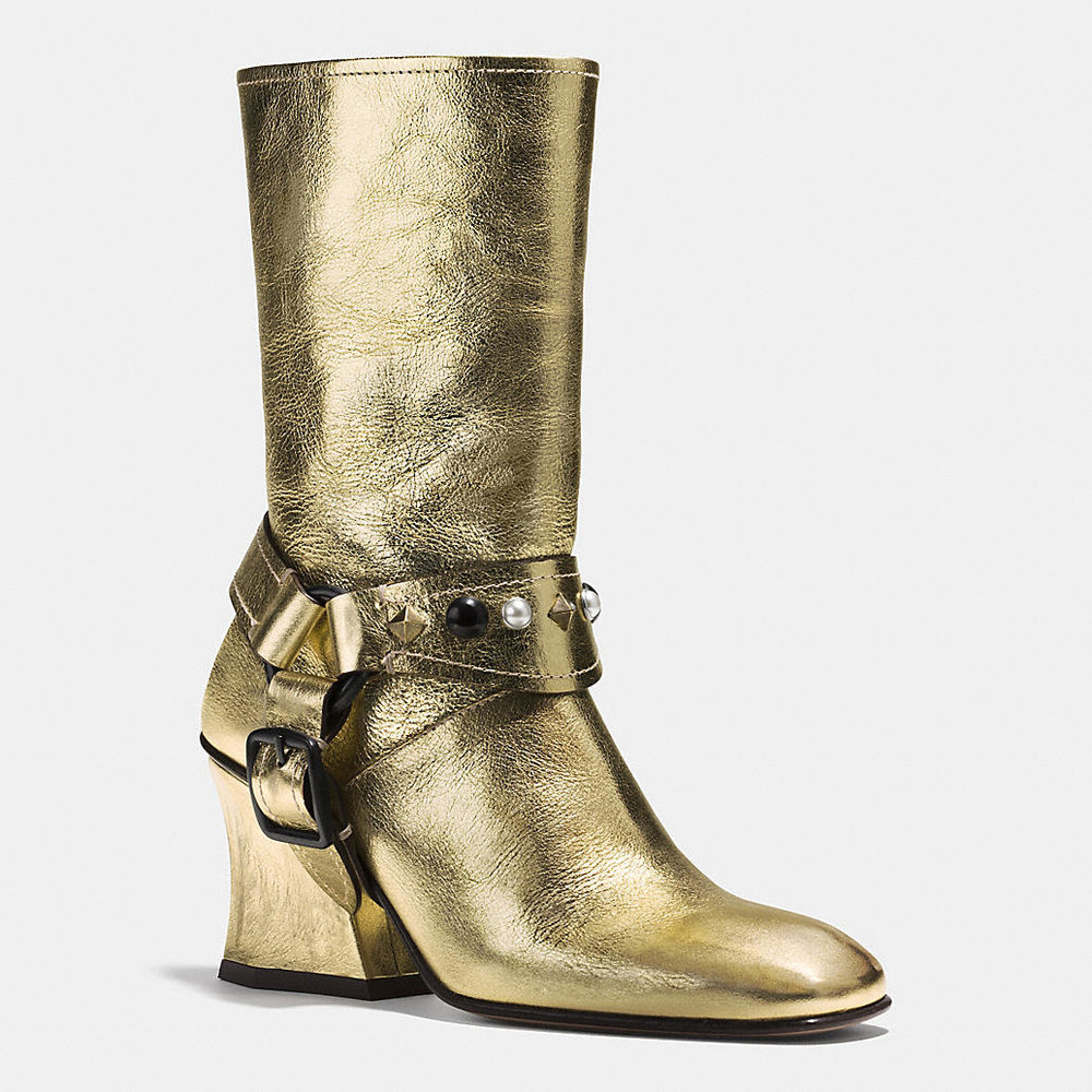 COACH GOLD HARNESS BOOT