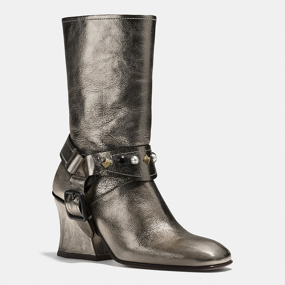 COACH SILVER HARNESS BOOT