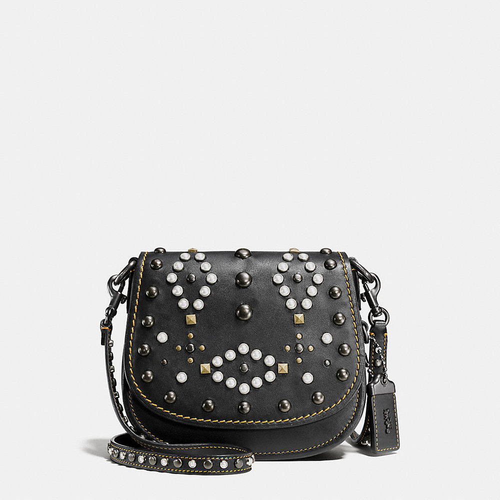 COACH WESTERN RIVETS SADDLE BAG