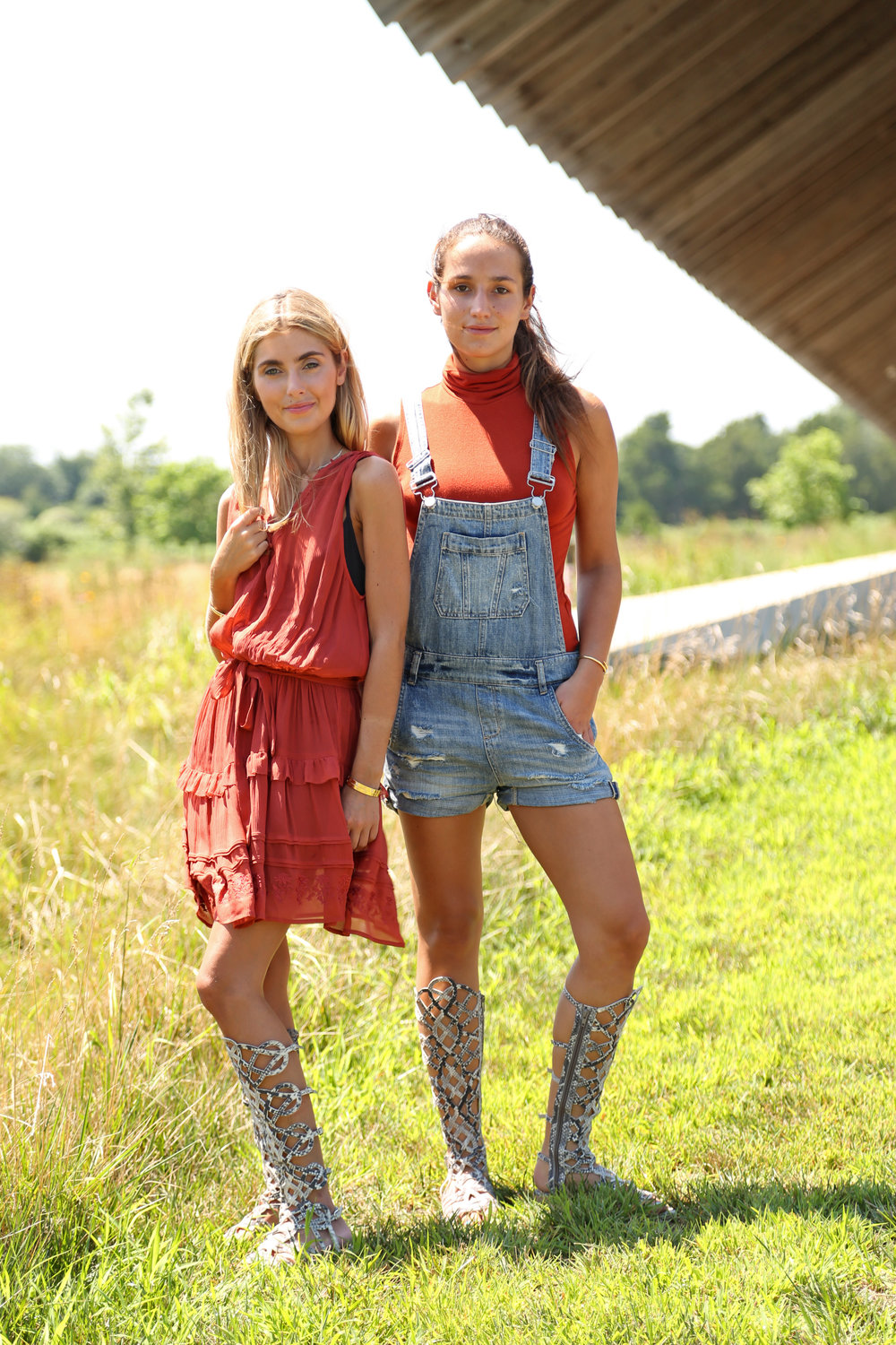 SOPHIE AND CHARLOTTE BICKLEY YIN 2MY YANG SISTER BLOGGERS GLADIATOR SANDALS