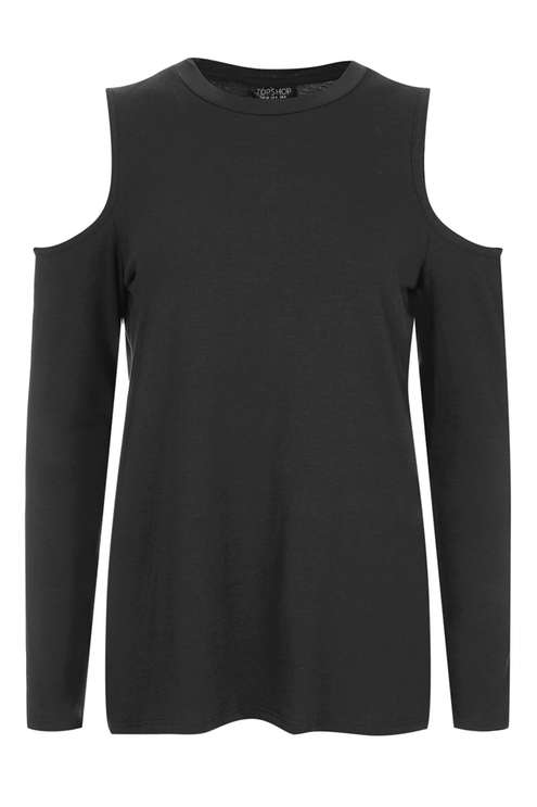 TOPSHOP RELAXED COLD SHOULDER TOP
