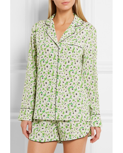 STELLA MCCARTNEY SILK CREPE PAJAMA SET