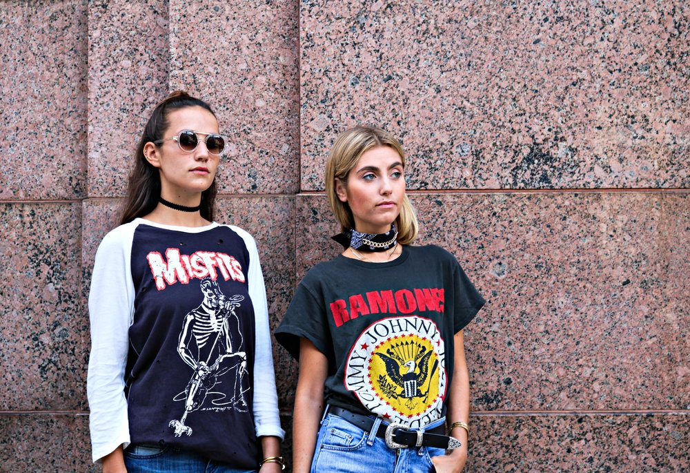 SOPHIE AND CHARLOTTE BICKLEY YIN 2MY YANG SISTER BLOGGERS GRAPHIC TEES