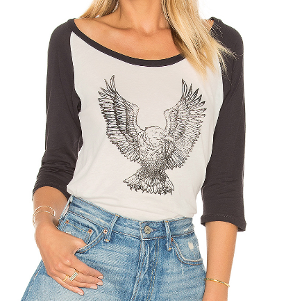 CLAYTON EAGLE GRAPHIC BASEBALL TEE
