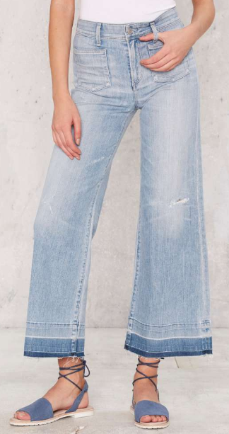 A GOLD E JUNE CROP HIGH-RISE FLARE JEANS