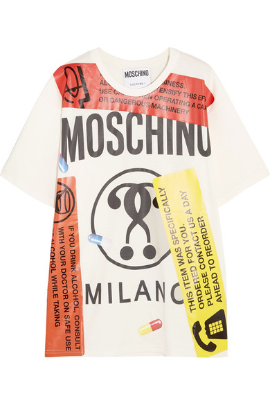 MOSCHINO OVERSIZED GRAPHIC TEE