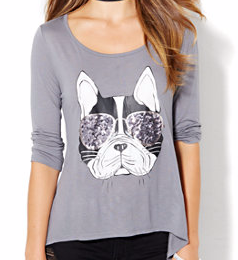 NY & CO DOGGIE GRAPHIC TEE