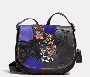 COACH PATCHWORK SADDLE BAG