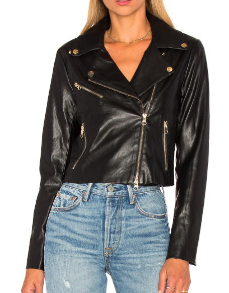 BISHOP + YOUNG FAUX LEATHER MOTO JACKET