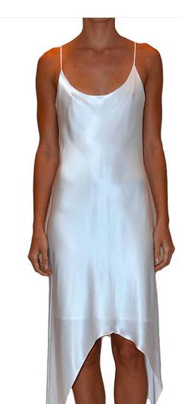 JUST DREW NYC WHITE SLIP DRESS