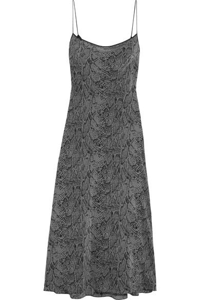 KATE MOSS FOR EQUIPMENT SILK MAXI SLIP DRESS