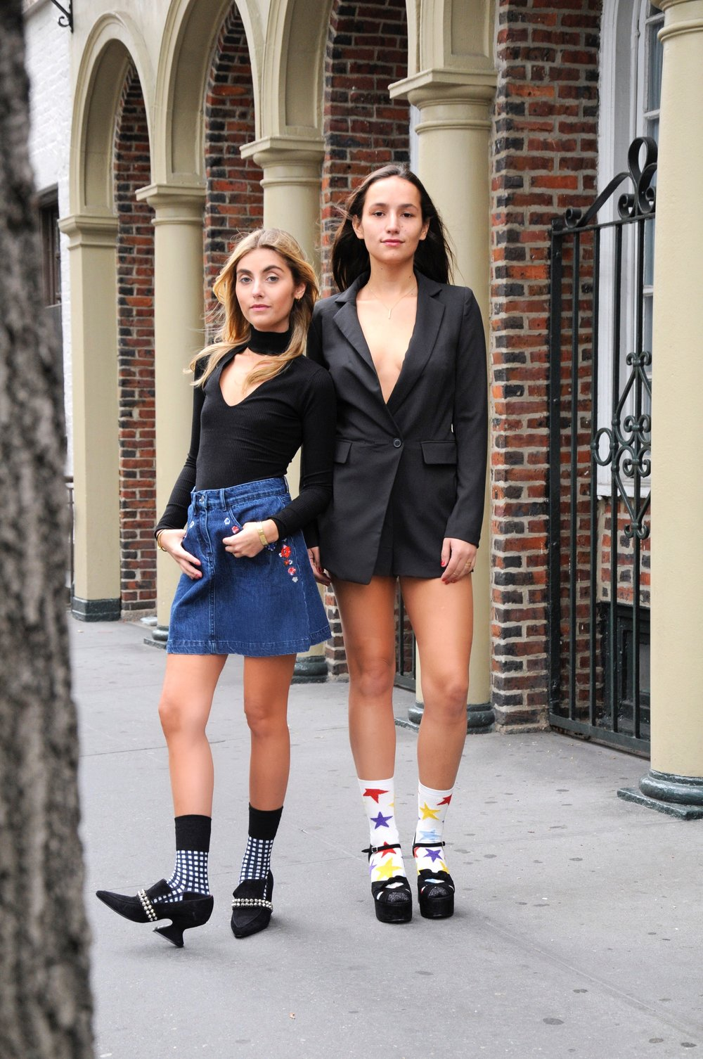 SOPHIE AND CHARLOTTE YIN 2MY YANG SISTER FASHION BLOGGERS SOCKS TREND
