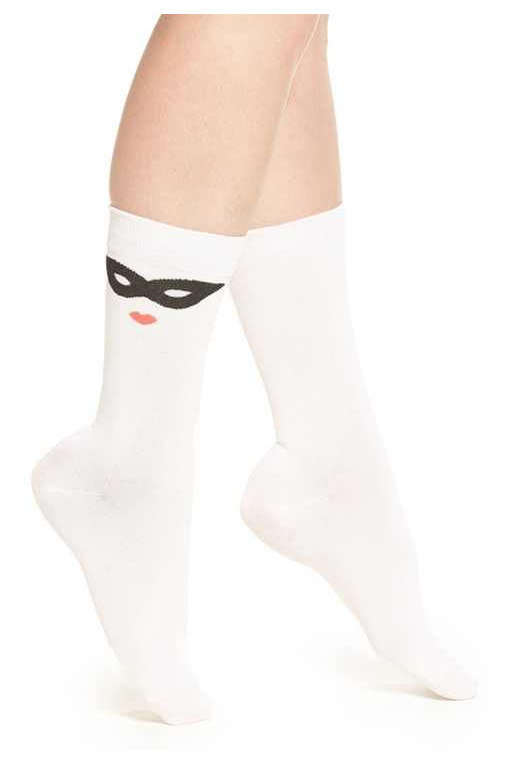 KATE SPACE NEW YORK MASK PATTERN SOCK