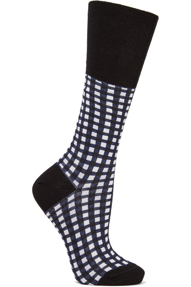 MARNI CHECKED COTTON SOCKS