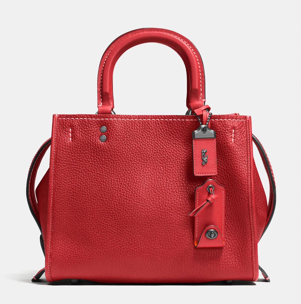 COACH 'ROGUE' 25 RED MINI BAG