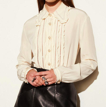 COACH RUFFLED SHIRT