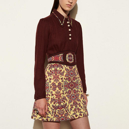 COACH FOREST FLOWER VARSITY COLLARED DRESS