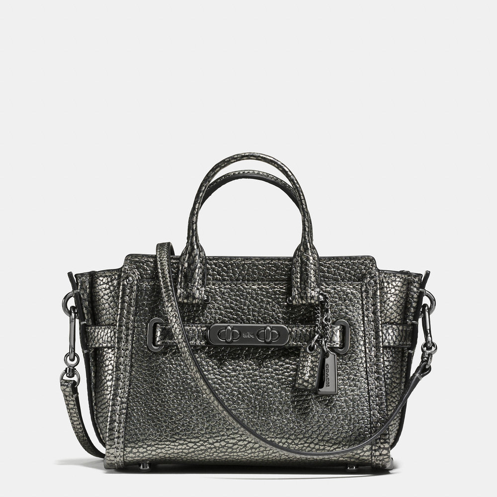 COACH GUNMETAL SWAGGER 15 BAG