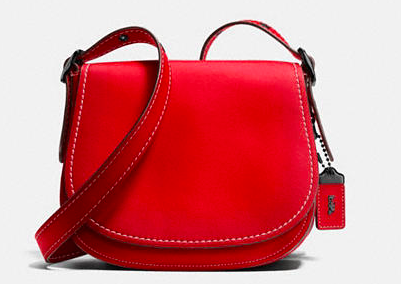 COACH RED SADDLE BAG