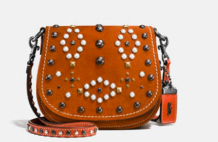 COACH WESTERN RIVETS SADDLE BAG 17