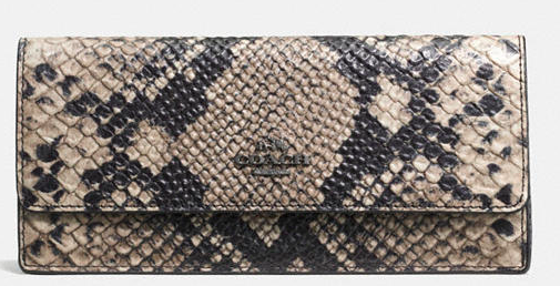 COACH SOFT PYTHON EMBOSSED WALLET