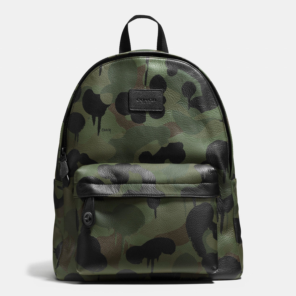 COACH CAMPUS CAMO PRINTED BACKPACK