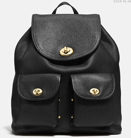 COACH TURNLOCK RUCKSACK BACKPACK