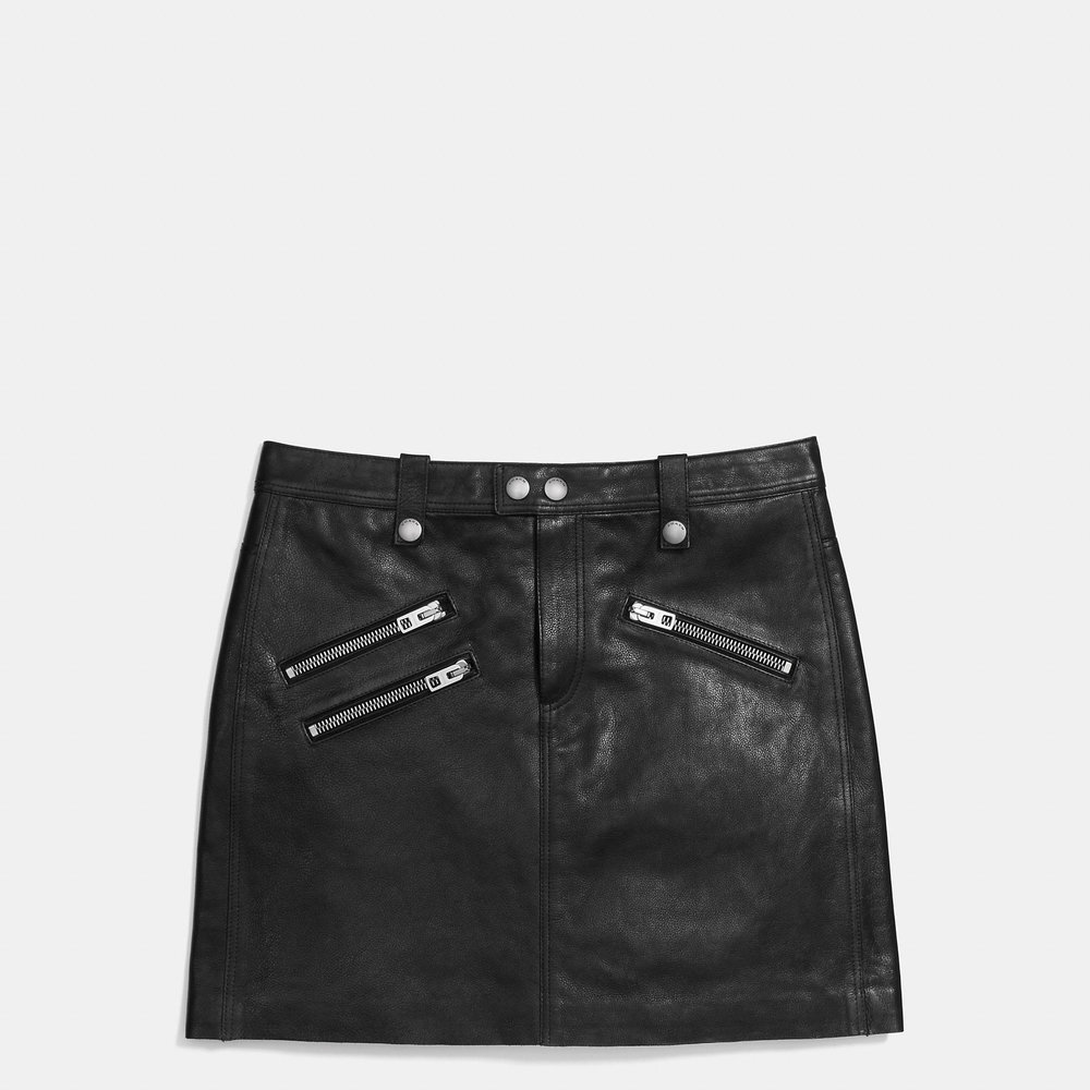 COACH MULTI-ZIP SKIRT