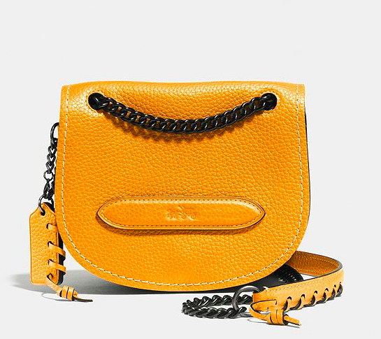 COACH YELLOW SMALL SHADOW CROSSBODY BAG